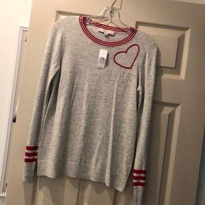 NWT Loft crewneck LOVE sweater